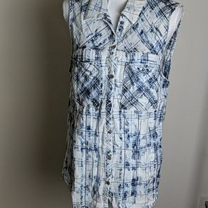 love,fire Flannel Sleeveless Top NWT